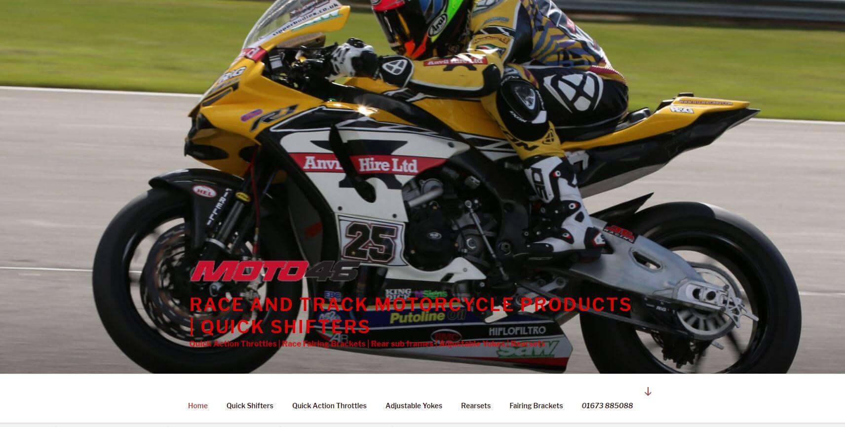 website launch moto46.co.uk