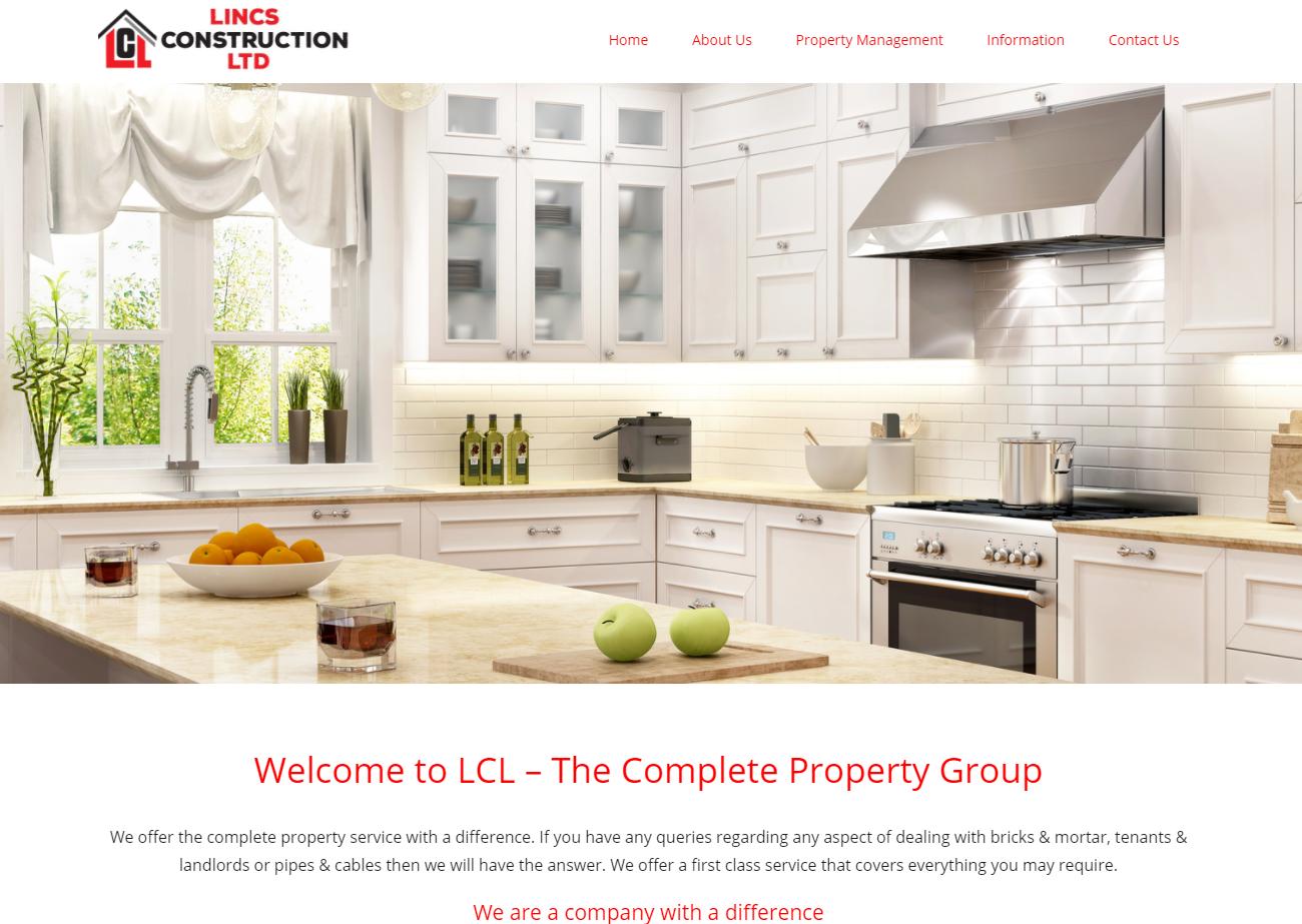 Lincs Construction website
